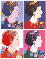 reigning queens: queen margrethe ii of denmark [ii.342-345] by andy warhol